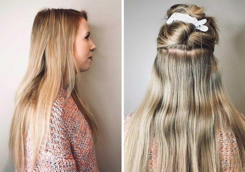 Разделение волос на части