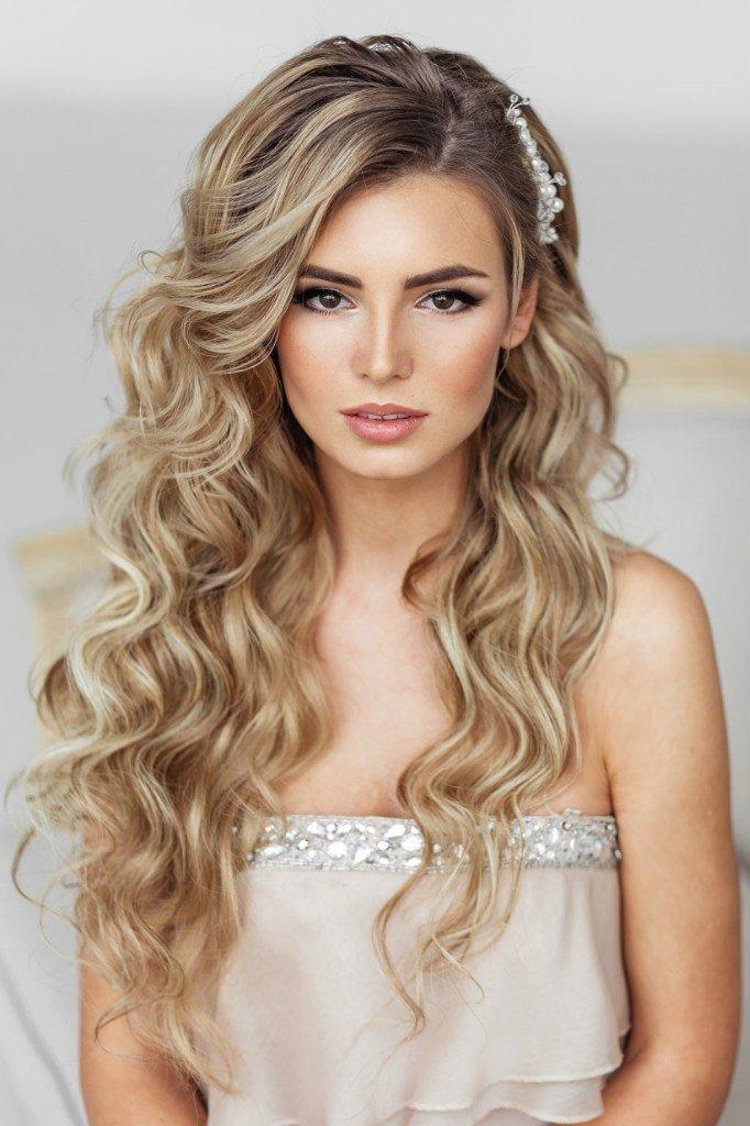 Свадебный макияж для блондинок с карими глазами