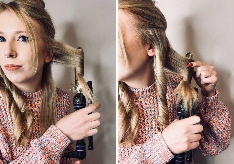 Накручивание нижних волос