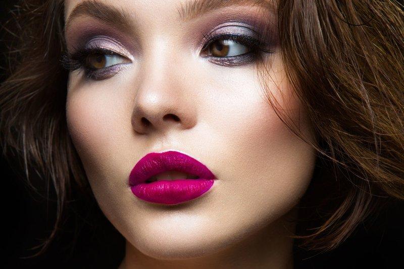 Красочный вечерний макияж