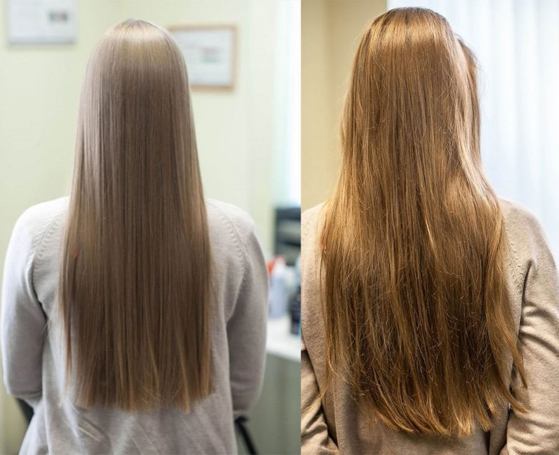 Результат регулярного применения масок для густоты и роста волос