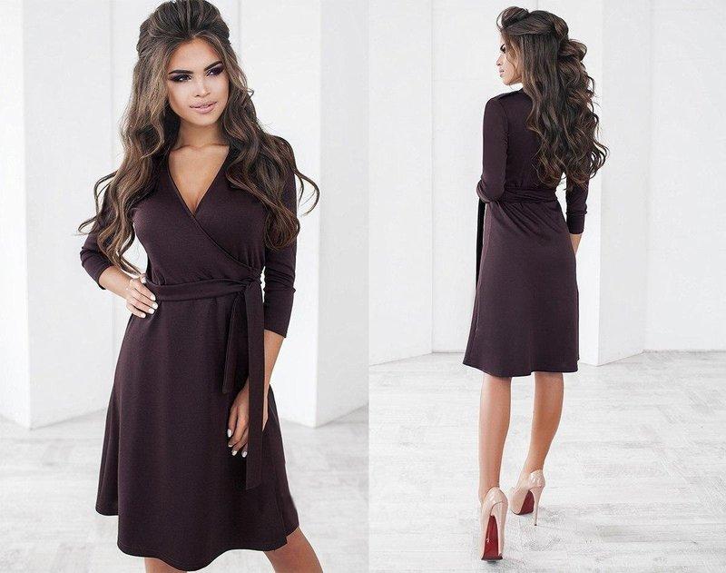 Платье в шоколадном оттенке