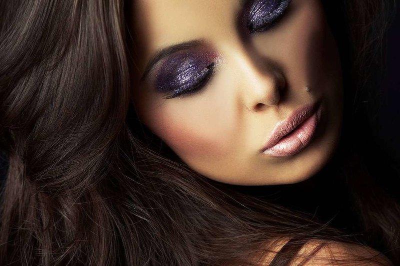 Фиолетовый смоки айс с шиммером