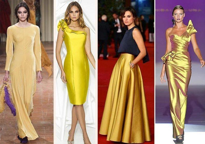 Новогодние наряды в желтой цветовой гамме
