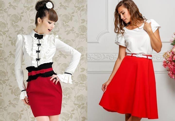 Красно-белый стиль