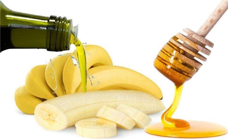 Приготовление маски из банана