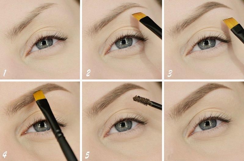 Оформление бровей при натуральном макияже