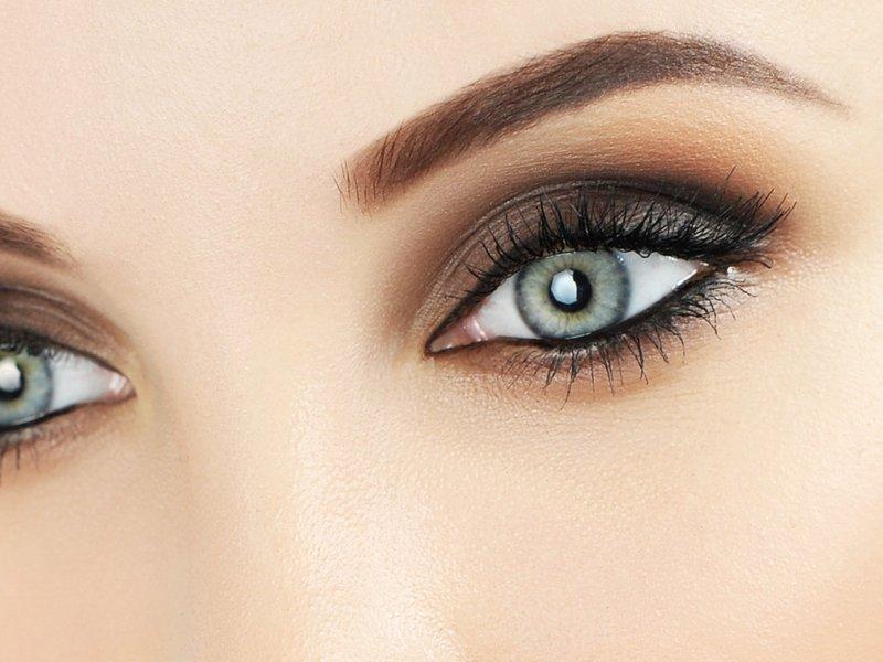 Макияж для светлых глаз