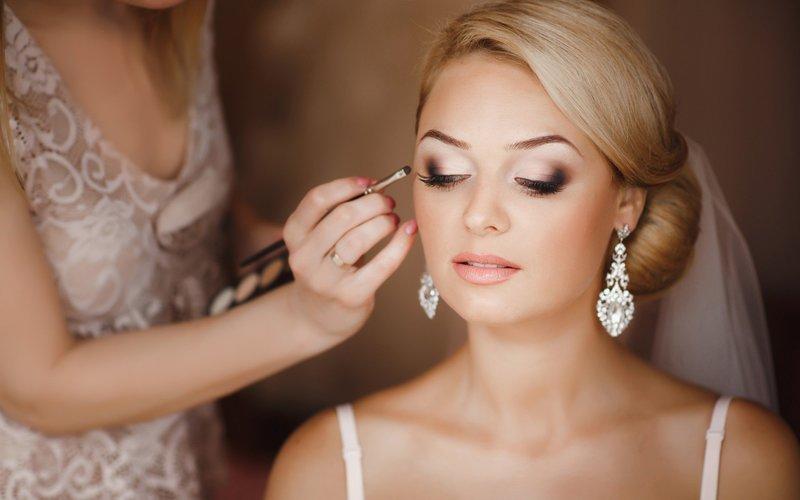 Цветовая палитра теней для свадебного макияжа