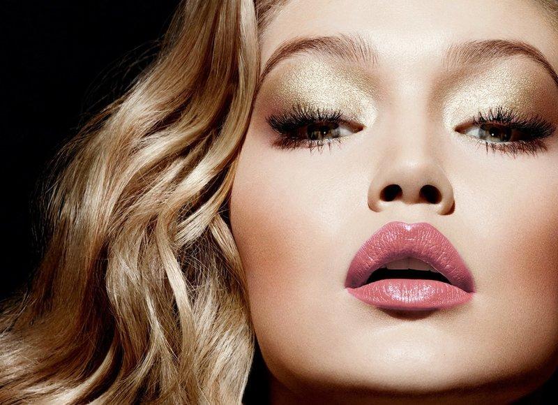 Золотистый макияж на новый год