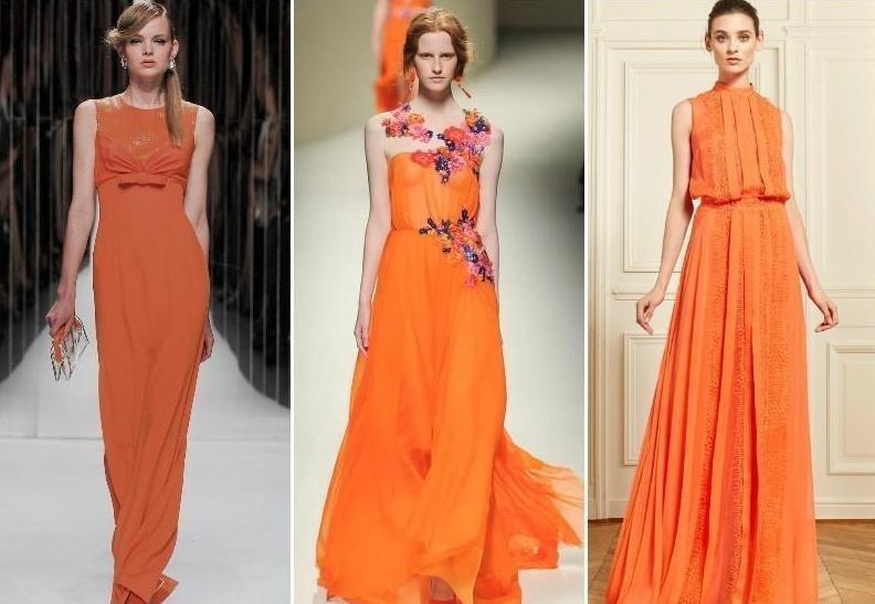 Персиковые платья для празднования Нового года