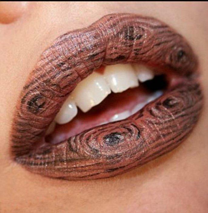 Идея древесного мотива губ