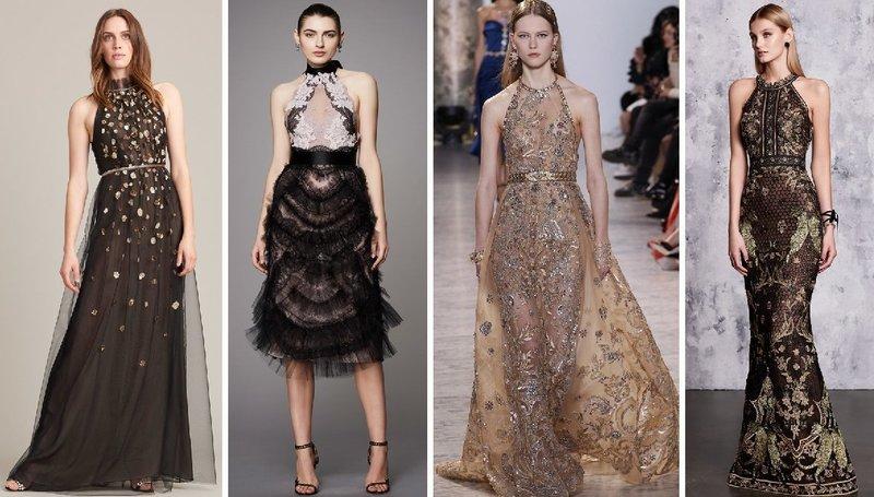 Платья с орнаментом для празднования Нового года