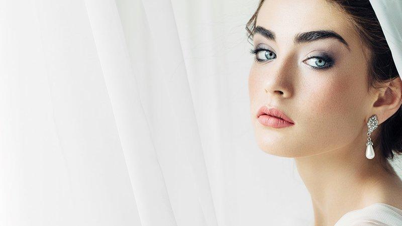 Свадебный макияж для голубоглазых