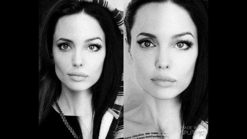 Трансформация с помощью макияжа как у Анджелины Джоли