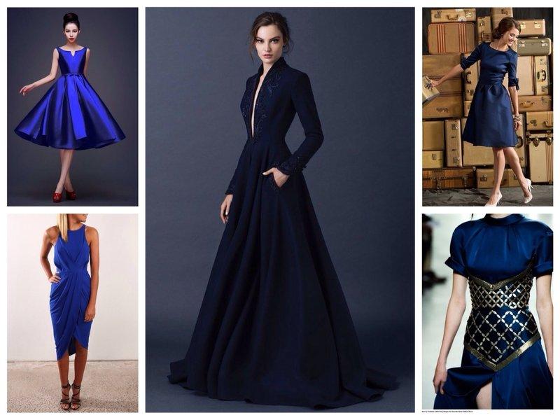 Темно-синие платья для девушки-Тельца
