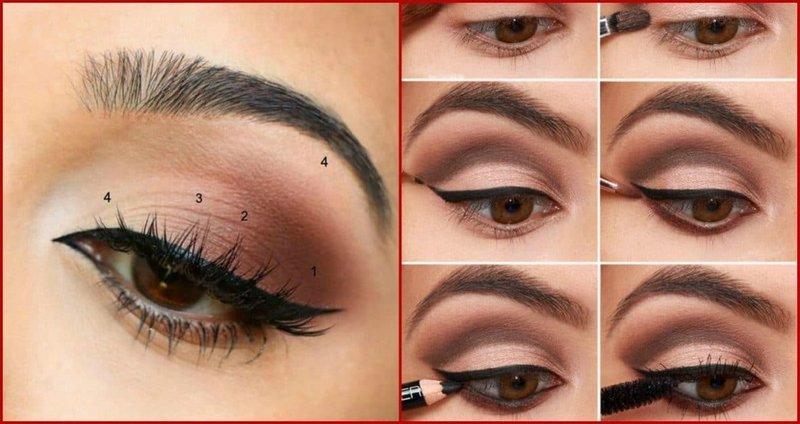 Нюдовый макияж для карьих глаз