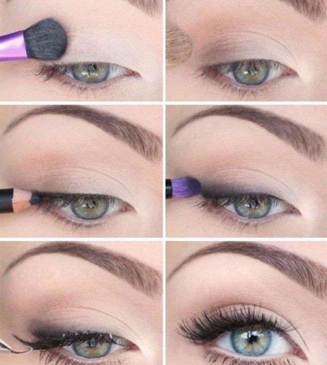 Нюдовый макияж для зеленых глаз