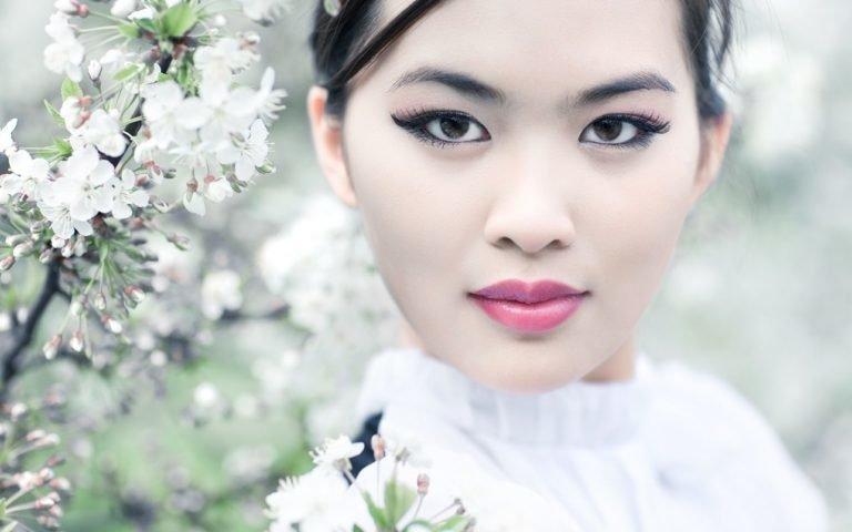 Образец повседневного японского макияжа