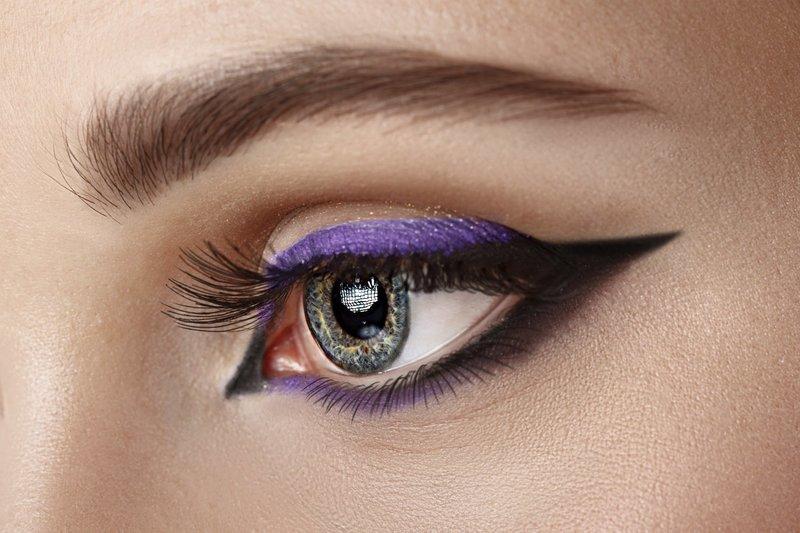 """Двухцветные стрелки в стиле """"кошачий глаз"""""""