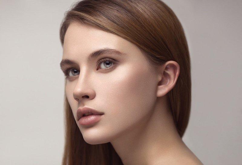 Нюдовый макияж в телесных цветах