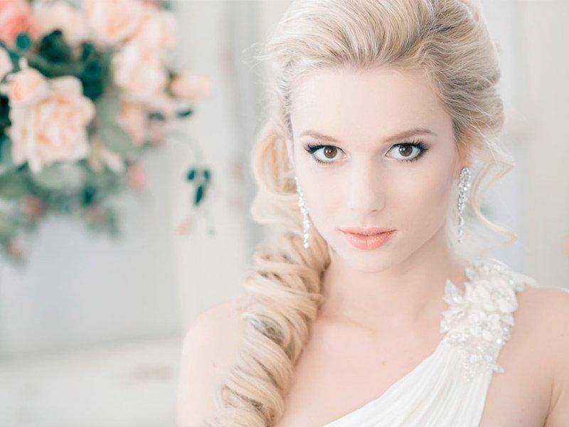 Cвадебный макияж для блондинок