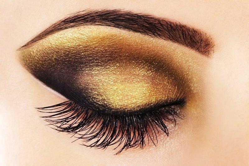 """""""Кошачий глаз"""" в коричнево-золотистых оттенках"""