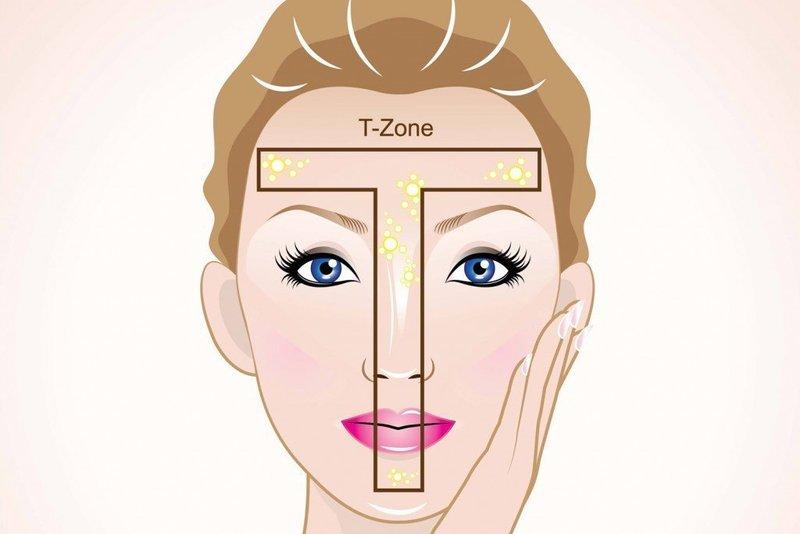 Т - зона лица
