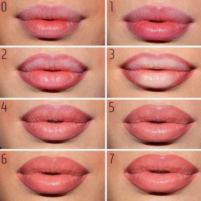 Свадебный макияж губ пошагово