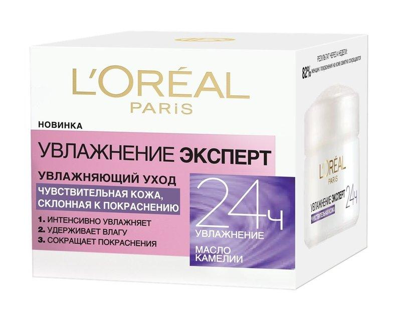 Крем для чувствительной кожи «Увлажнение Эксперт», L'Oréal Paris