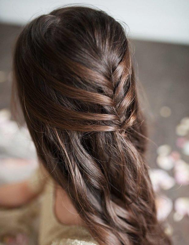 Прическа с косой на волосы средней длины