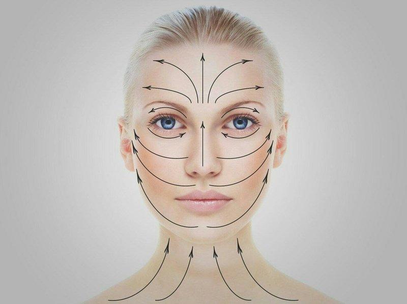 Принцип нанесения крема с мочевиной на лицо