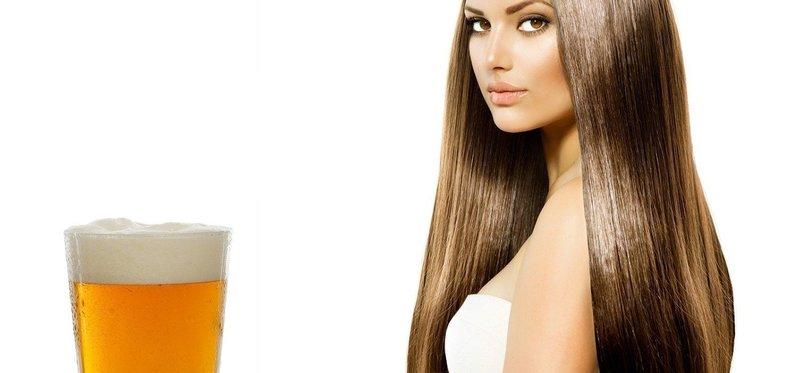 Маска для блеска волос с пивом