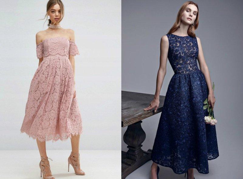 Женственные платья из кружева