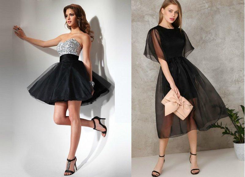 Выпускные платья черного цвета