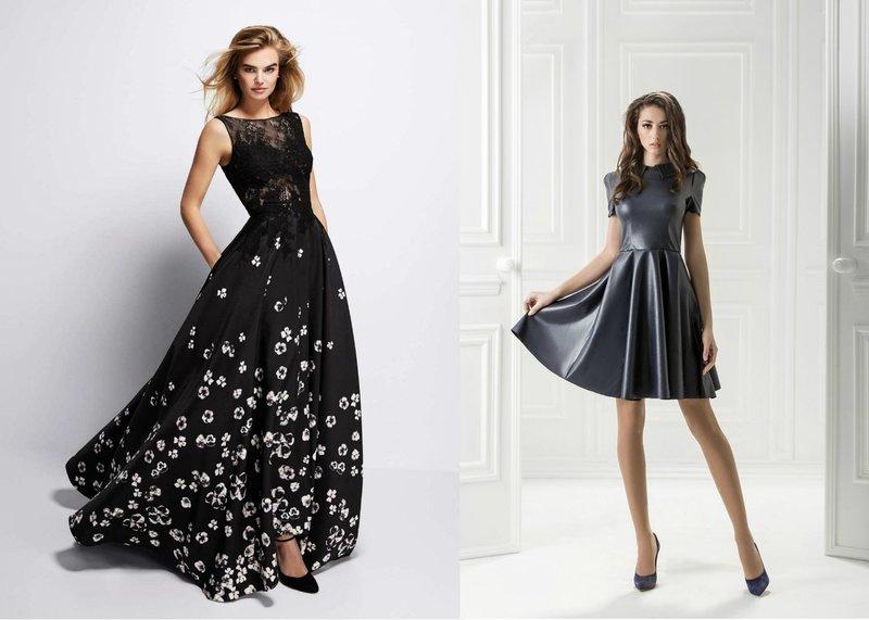 Выпускные черные платья
