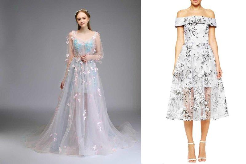 Прозрачные платья 2019