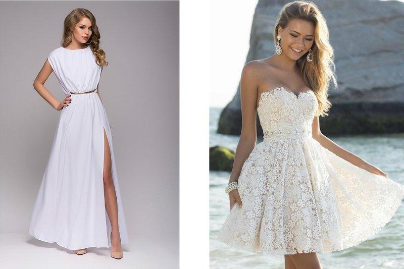 Стильные белые платья