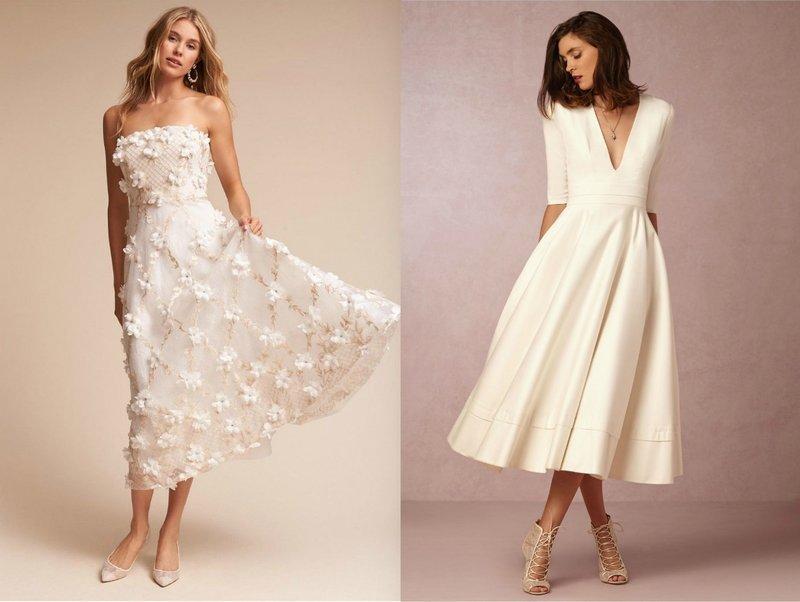 Элегантные платья на выпускной в белом цвете