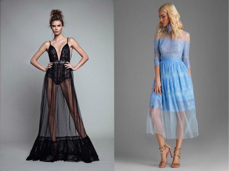 Прозрачные платья на выпускной