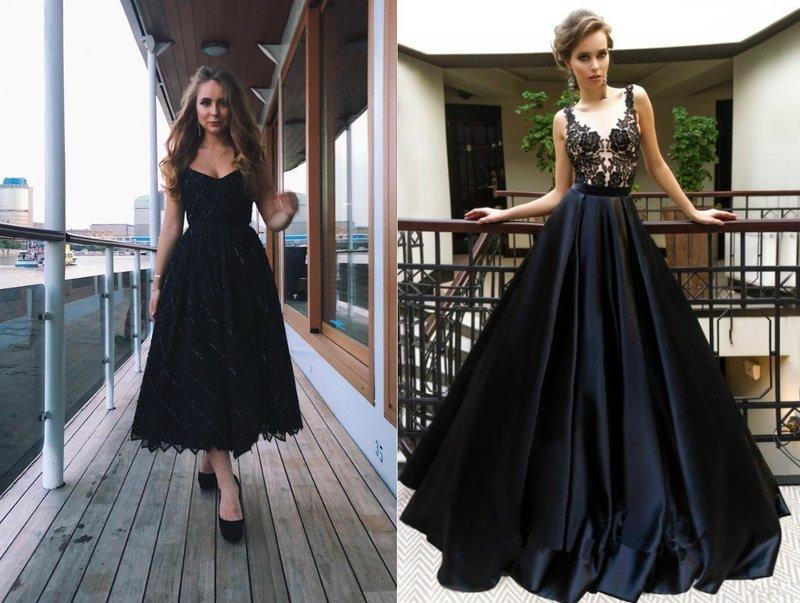 Элегантные платья черного оттенка