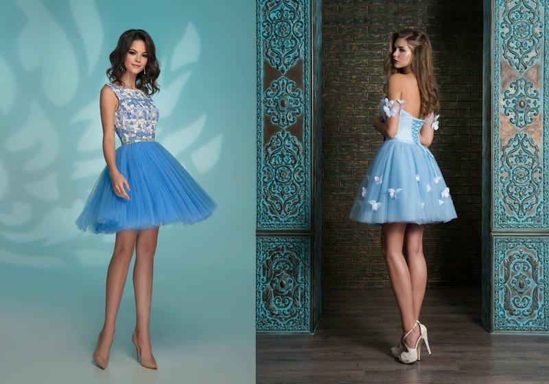 Короткие платья синего цвета