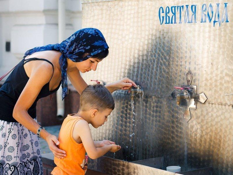 Умывание святой водой
