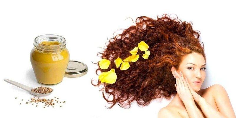 Горчица способствует росту волос