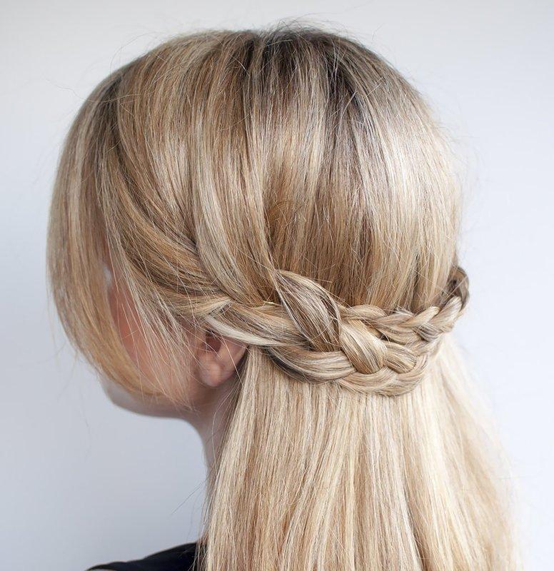 Ободок из кос