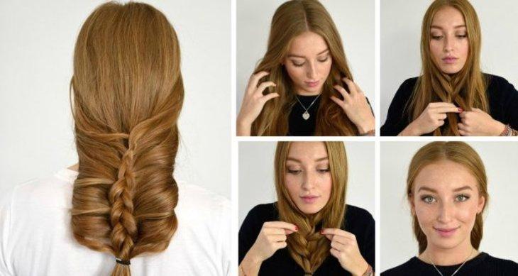 Французская коса наизнанку: пошагово
