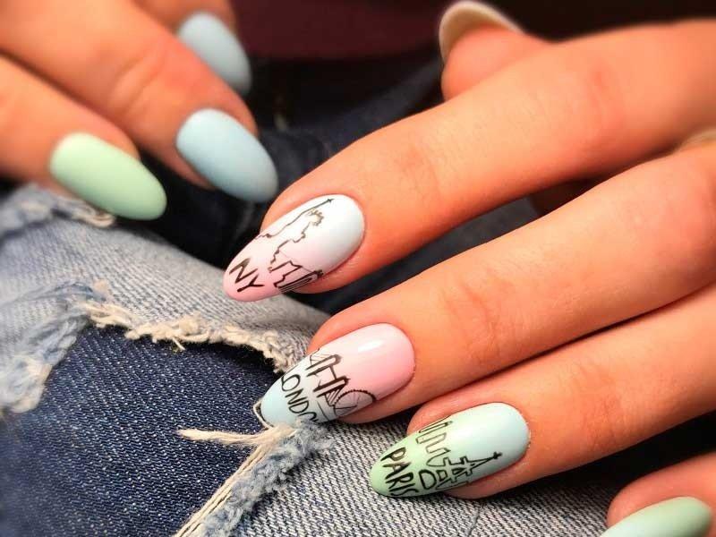 Модные узоры на ногтях