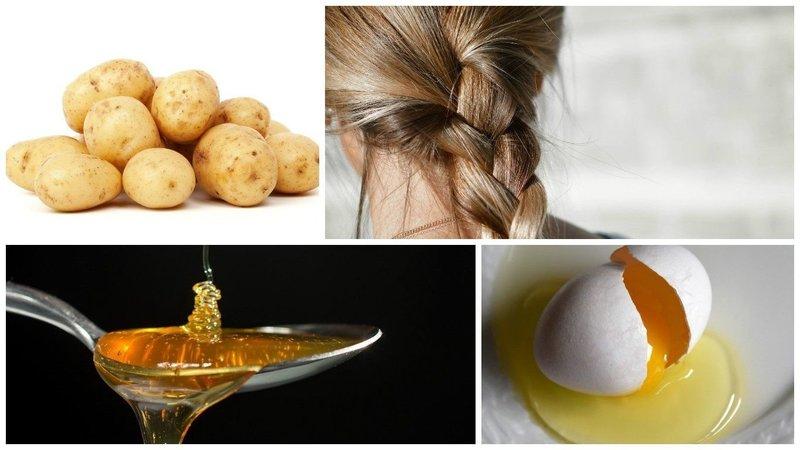 Ингредиенты для приготовления восстанавливающей маски для волос