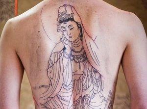 Буддийский оберег-тату