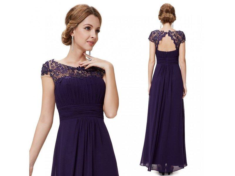 Тёмно-фиолетовое платье на выпускной